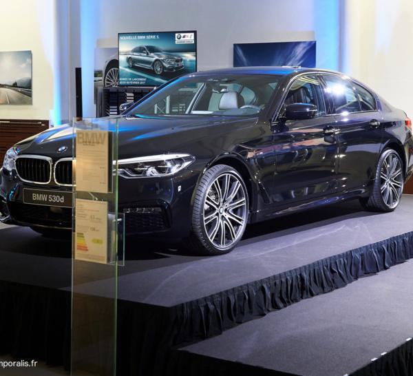 Lancement BMW série 5...