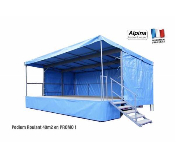 PROMO : Podium Roulant de 40m2